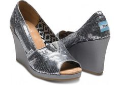 Somebody please tell my hubby I NEED these....... Sequined TOMS. Update 8/31/12- my feet don't fit TOMS- I need a 7 3/4.... :-(((