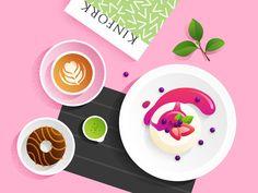 food illustration  by Xiu  yuan  #Design Popular #Dribbble #shots