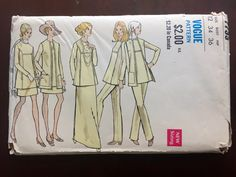 """1970's Vogue Pants, Tunic, Jacket, and Skirt Pattern - Bust 34"""" - No. 7733 by backroomfinds on Etsy"""