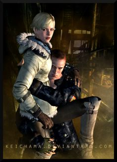: Cross-road by keichama on DeviantArt Resident Evil Video Game, Resident Evil Anime, Resident Evil Girl, Anime Couples, Cute Couples, Albert Wesker, Leon S Kennedy, City Hunter, Welcome To The Family