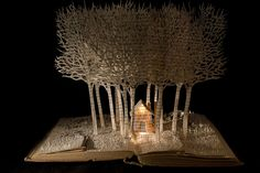 Book Sculptures by Su Blackwell #bookart #FairyTales #SuBlackwell #books #art #sculpture