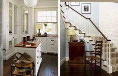 stairs/ kitchen curtains