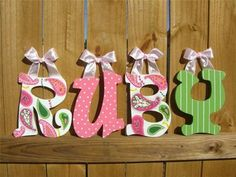 how to make wooden wall letters using scrapbook paper