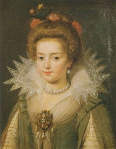 Artist unknown - Princesse Christine Marie de France - daughter of Henri IV and his second wife, Marie de Medici. Renaissance, A4 Poster, Poster Prints, Old Portraits, Portrait Paintings, French Royalty, French History, Historical Costume, Vintage Artwork