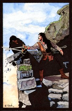 Princess Bride Sword Fight Watercolor... by ssava@deviantART