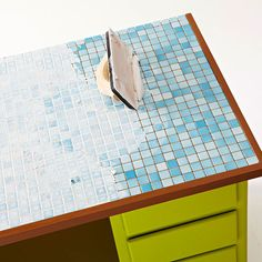 Tile top table how to from BHG.