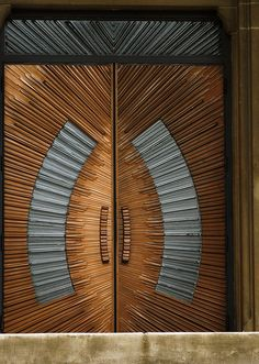 All Saints Church - 4408 Liberty Heights Avenue, Baltimore by Anomalous Modern Wooden Doors, Wooden Main Door Design, Beautiful Front Doors, Unique Doors, Entrance Doors, Doorway, Door Knockers, Door Knobs, Deco Tv