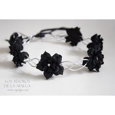Floral Crown Flower Circlet Gothic Crown ($27) ❤ liked on Polyvore featuring accessories, hair accessories, flower crowns, hats, black, grey, floral garland, lace hair accessories, flower garland and goth hair accessories