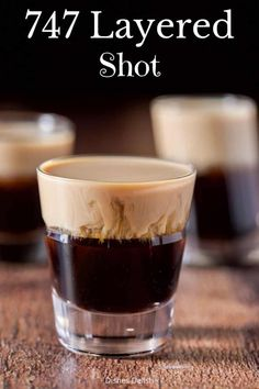 This 747 shot has 3 ingredients - Kahlúa, Frangelico and Baileys! It's easy to make and even easier to imbibe! #shot #cocktail #dishesdelish