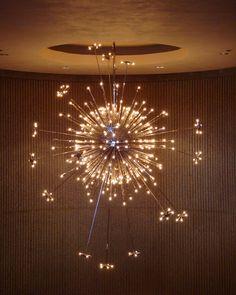 Sputnik chandelier in the Palm Springs Desert Museum.  Secret Design Studio knows mid century modern architecture.   www.secretdesignstudio.com