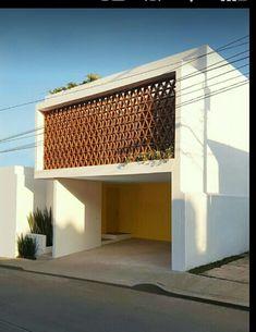Brick Architecture, Minimalist Architecture, Facade Design, Exterior Design, Modern Brick House, Glam House, Exterior Cladding, House Front Design, Facade House