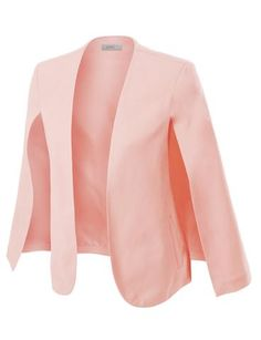 Sharpen your wardrobe with this open front ruched 3/4 sleeve blazer jacket. A softly draped open-front silhouette softens the look while the asymmetrical hem adds a modern touch to this blazer. This blazer is perfect for either professional environment or for casual wear. Feature  100% Polyester Lightweight, ultrasoft material for comfort Draped front / Asymmetrical hem 3/4 Ruched sleeves / No closure Dry clean only / Do not bleach / Do not iron Please look at th...