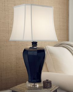 Shop Navy Lamp at Horchow, where you'll find new lower shipping on hundreds of home furnishings and gifts. Dining Lighting, Cool Lighting, Neiman Marcus Home, Painting Lamps, Entertainment Table, Bedroom Themes, Lampshades, Lamp Light, Table Lamp