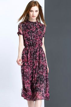 75.99 Purple Leaves Print Dressproducts id (1000012980 or 1000012313 or  1000012610 or 1000012416) 4becce0c1361