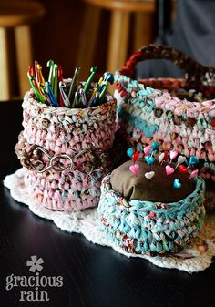 Tutorial - Crochet Containers