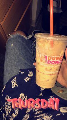 Medium iced caramel coffee from Dunkin' Donuts