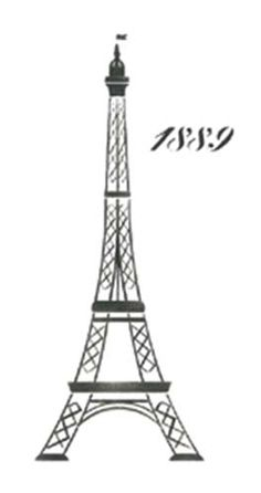 Large Eiffel Tower Wall Stencil