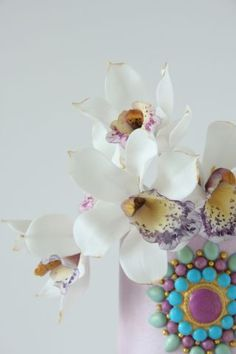 Orchid cake - Cake by Cookie Hound! - CakesDecor