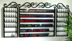 Nail Polish Wall Holder -- Could maybe use this for the oils...!