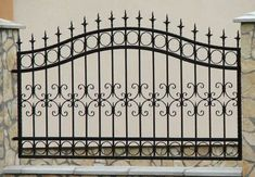 9 Sharing Tips: Fence Colours Black easy dog fence.Farm Fence And Gates rustic fence background. Wrought Iron Fences, Metal Fence, Stone Fence, Bamboo Fence, Iron Gate Design, Fence Design, Fence Landscaping, Backyard Fences, Pool Fence
