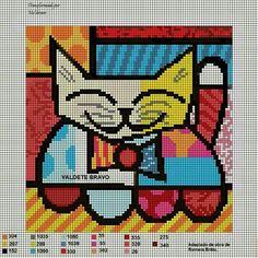 - bem vindos deixem seus comentários - Dinha Ponto Cruz Beaded Cross Stitch, Modern Cross Stitch, Cross Stitch Designs, Cross Stitch Embroidery, Cross Stitch Patterns, Cat Cross Stitches, Cross Stitching, Cross Stitch Pictures, Alpha Patterns