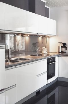 Cleverly Placed Lighting Makes This White Cabinetry Come To Life Kitchen  Design, Kitchen Interior,