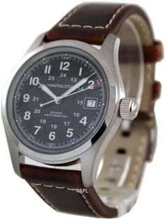 Best prices on Hamilton Watches, Hamilton has Stainless Steel Case and Brown Leather Strap, Self Winding Automatic Movement, Caliber: ETA Cool Watches, Watches For Men, Seiko 5 Military, Hamilton Khaki Field Automatic, Authentic Watches, Seiko Automatic, Affordable Watches, Online Watch Store, Stainless Steel Case
