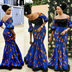 Blue African Print Dress/African Clothing/African Dress For Women/African Dress/African Midi Dress/African Ankara Dress/Ankara Print Dress Latest African Fashion Dresses, African Print Dresses, African Print Fashion, African Dress, African Fabric, Ankara Fashion, African Lace, Africa Fashion, African Prints