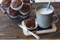 Muffins de chocolate tibio