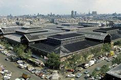 Toits des Halles de Paris Date : 29/06/1971  Crédits : INA