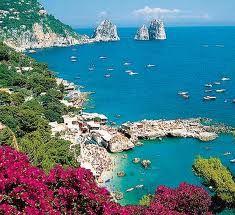 Isle of Capri just off the coast of Italy.