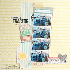 grandpa's tractor *scrapbook circle* by Diana Waite @Two Peas in a Bucket