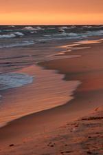 Lake Michigan beach in Grand Haven. Photo by - Gert Wallis