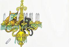 The Sorcerer's Apprentice by Barbara Hazen, illustrated by Tomi Ungerer, 1969.