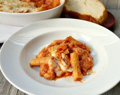 Easy Two-Cheese Baked Rigatoni Recipe Rigatoni Recipes, Baked Rigatoni, Pasta Recipes, Crockpot Recipes, Baking Recipes, Soup Recipes, Dinner Recipes, Dinner Ideas, I Love Food