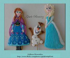 Frozen Elsa Anna Olaf cookies
