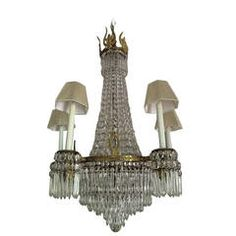 Magnificent French Empire Bronze and Crystal Chandelier | From a unique collection of antique and modern chandeliers and pendants  at https://www.1stdibs.com/furniture/lighting/chandeliers-pendant-lights/