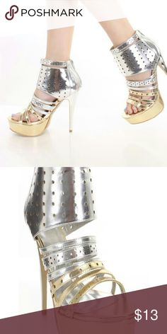 Heels by Lilianna New strappy heels buy Liliana True to size Zipper back 5.5 in heel 1.5 in platform approximate Shoes Heels