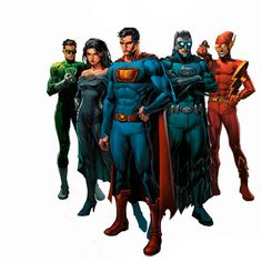 "The Crime Syndicate of America Earth-3 by David Finch- Loved the movie ""Crisis On Two Earths"" which featured the Syndicate."