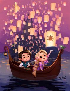 Lantern Cuties Prints will be debuting at DesignerCon Nov 19-20. After that will be available on my Etsy after. Disney Rapunzel, Disney Pixar, Rapunzel Flynn, Anime Disney, Disney E Dreamworks, Animation Disney, Disney Cartoons, Tangled Flynn, Chibi Disney