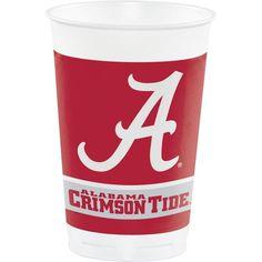 (96/case) Case of University of Alabama Plastic Cups, 20 Oz