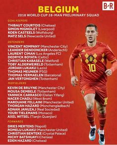 Belgiums World Cup Squad. World Cup Russia 2018, World Cup 2018, Fifa World Cup, Vincent Kompany, Fifa Football, Football Players, Thibaut Courtois, Transfer Rumours, Transfer News