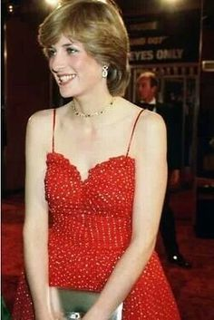 """June 24, 1981: Lady Diana Spencer attends West End Royal Premiere of the latest James Bond film, """"For Your Eyes Only""""."""