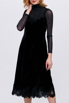 Join Dezzal, Get $100-Worth-Coupon GiftVelour Lace Insert Slip Dress with TeeFor Boutique Fashion Lovers Only: Designer Collection·New Arrival Daily· Chic for Every Occasion