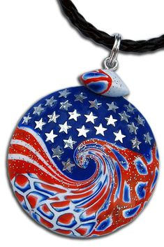 The longest and most difficult in this pendant is not to mix red, white and blue polymer clay and do not twist the bead into an ideal lentil. The most difficult and long is to glue the stars evenly. :) More: https://www.etsy.com/listing/274058252/independence-day-4th-of-july-united #us #usa #america #unitedstates