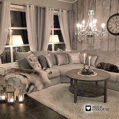 Modern Design and Living Glam Living Room, Living Room Decor Cozy, Interior Design Living Room, Home And Living, Living Room Designs, Bedroom Decor, Cozy Living, Living Area, Living Spaces