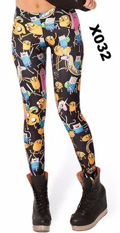 8709417649f9 New 2017 Many Famous Cartoon Adventure Time Printed Fitness Women Leggings  Summer Sping Harajuku Leggins Creative Pants