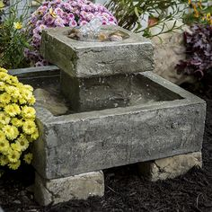 The Old Stone Fountain is Perfect for outdoor living areas that offers substantial noise and visual water flow from any angel. The Rock fountain has the look of both stone and Japanese water garden. Made of cast stone concrete. Stone Garden Fountains, Rock Fountain, Small Fountains, Garden Stones, Fountain Ideas, Water Fountains, Backyard Water Feature, Fire Pit Backyard, Landscaping With Rocks