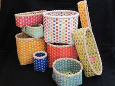Hand Woven Baskets by ColorBasketStudio