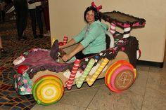 Vanellope Von Schweetz in her Sugar Rush race car! Wreck It Ralph Halloween, Disney Halloween, Halloween Party, Halloween Costumes, Baby Girl First Birthday, 2nd Birthday, Tsum Tsum Party, Candy Car, Cute Kids Crafts